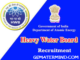 HWB Heavy Water Board Recruitment 2020 Apply for 185 Posts